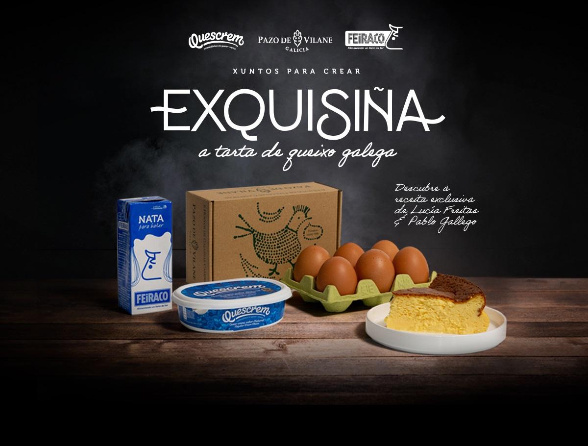 Exquisiña: la tarta de queso definitiva con productos del rural gallego