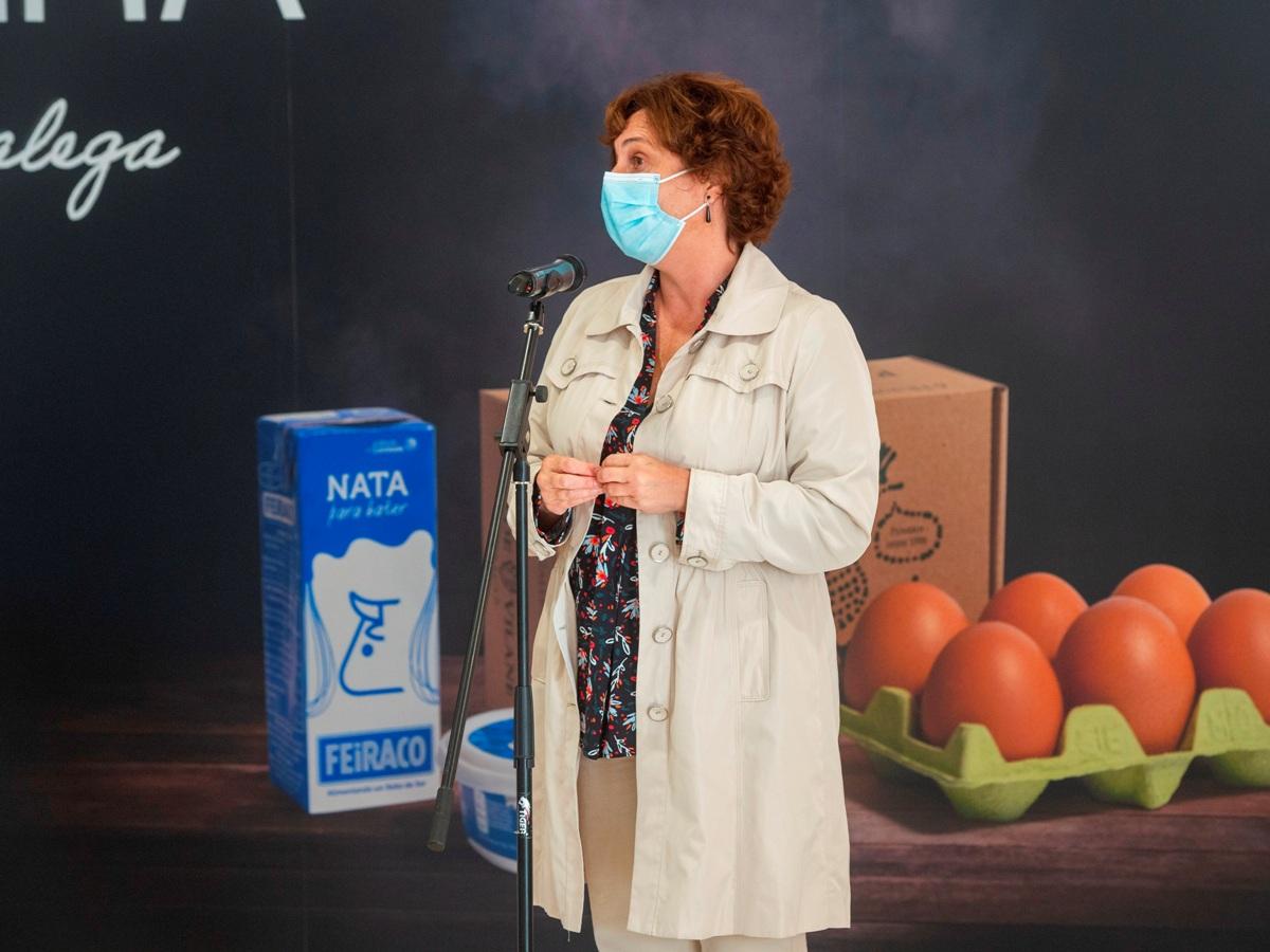 Nuria Varela-Portas en presentación de torta Exquisiña